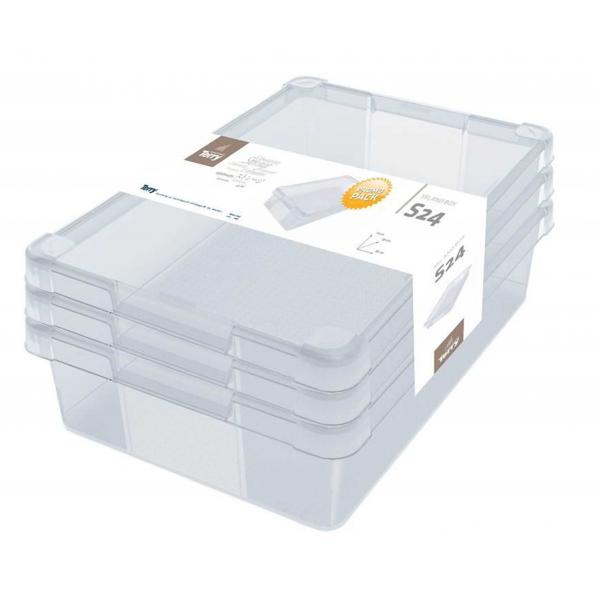 TERRY  Set of 3 multipurpose transparent boxes 24 l. - 1