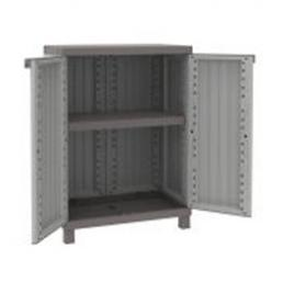 TERRY 2 Doors Cabinet Faux Wood finishing 68x39x91,5 - 1 adjustable inner shelf - 1