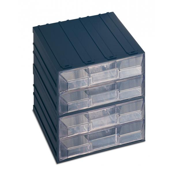 TERRY Drawer small parts organizer with label holder, 8 drawers with separator 20,8x22,2x20,8 - 1