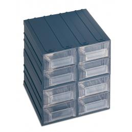 TERRY Drawer small parts organizer with label holder, 8 drawers 20,8x22,2x20,8 - 1