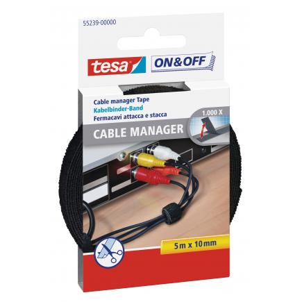 TESA Hook & Loop Small Cable Manager - 5 mt x 10 mm - 1