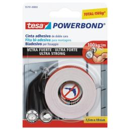 TESA Double Sided adhesive strong tape up to 10kg/cm - 1.5 mt x 19 mm - 1