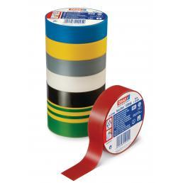 TESA Set of 10 PVC Electrical Insulation Professional Tape - Black - 2
