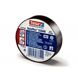 TESA Set of 10 PVC Electrical Insulation Professional Tape - Black - 1