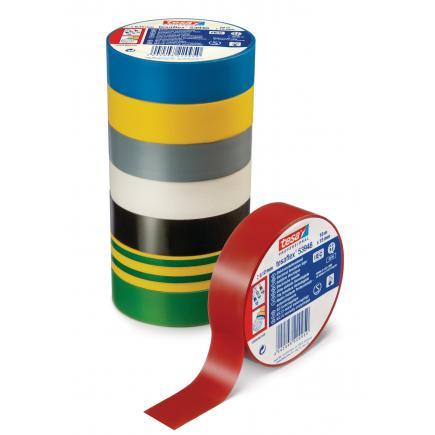 TESA PVC Electrical Insulation Professional Tape - Yellow/Green - 1