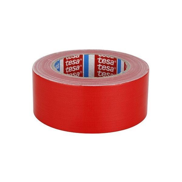 TESA Standard polyethylene coated cloth tape - Red - 1