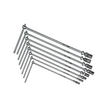 USAG Set of 8 T-handle wrenches with jointed hexagonal socket - 1