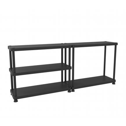 TERRY  5 shelves shelving unit with 2 assembling options 45x120 - 2