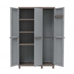 TERRY 3 Doors Outdoor Cabinet 102x39x170 - 3 adjustable inner shelves - 1