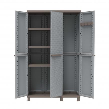 TERRY 3 Doors Outdoor Cabinet 102x39x170 - 3 adjustable inner shelves - 1
