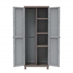 TERRY 2 Doors Outdoor Cabinet 68x39x170 - 3 adjustable inner shelves - 1