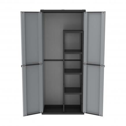 TERRY 2 Doors Outdoor Cabinet 68x37,5x163,5 - 4 adjustable inner shelves - 1