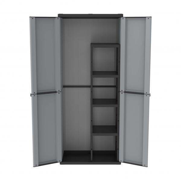 TERRY 2 Doors Outdoor Cabinet 68x37,5x163,5 - 4 adjustable inner shelves - 1