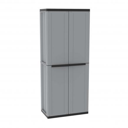 TERRY 2 Doors Outdoor Cabinet 68x37,5x163,5 - 4 adjustable inner shelves - 2