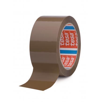TESA Set of 6 Carton Sealing Tape, Noisy unwinding, Brown Color - 1
