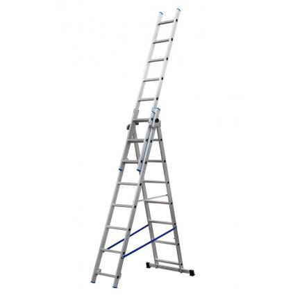 GIERRE 3 section extending ladder, parallel uprights - 1