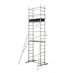 GIERRE aluminium scaffolding assembled on top of CLIP RAPIDO 400 - 1