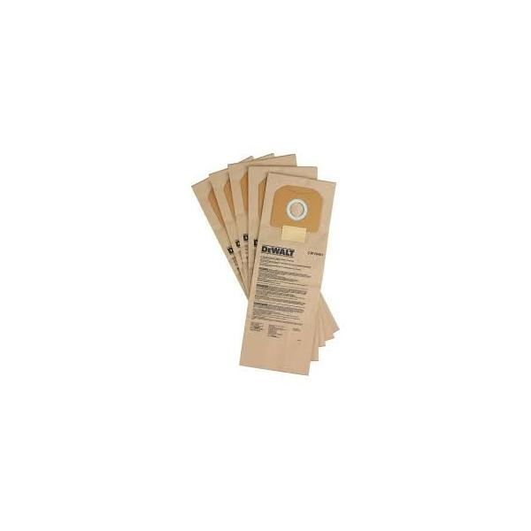 DeWALT Paper filter Bags for DWV920M (5pcs) - 1