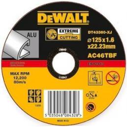 DeWALT EXTREME Angle Grinder Aluminium Cutting Disc - Flat Centre  (25 pcs.) - 1