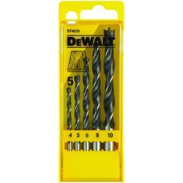 DeWALT Set of 5 Chrome-Vanadium Wood Drill Bits in Plastic Case - 1