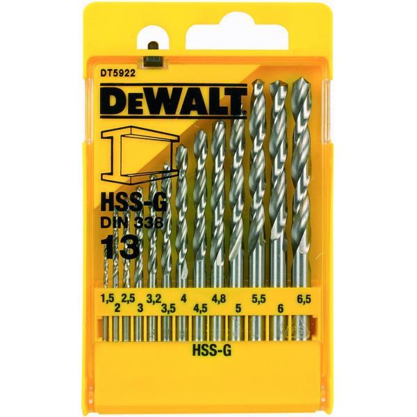 DeWALT Kit of 13 HSS-G Drill Bits in Metal Case - 1