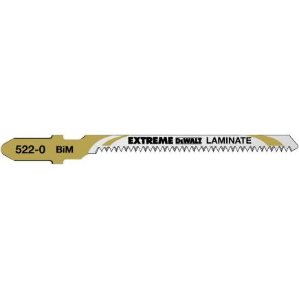 DeWALT Standard Woodcutting Jigsaw Blade - up to 15mm thick Curved Cuts in Wood and Laminate - 1