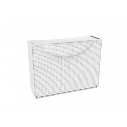 TERRY  Overlapping plastic shoe storage - Capacity 3 pairs - White Rattan - 1