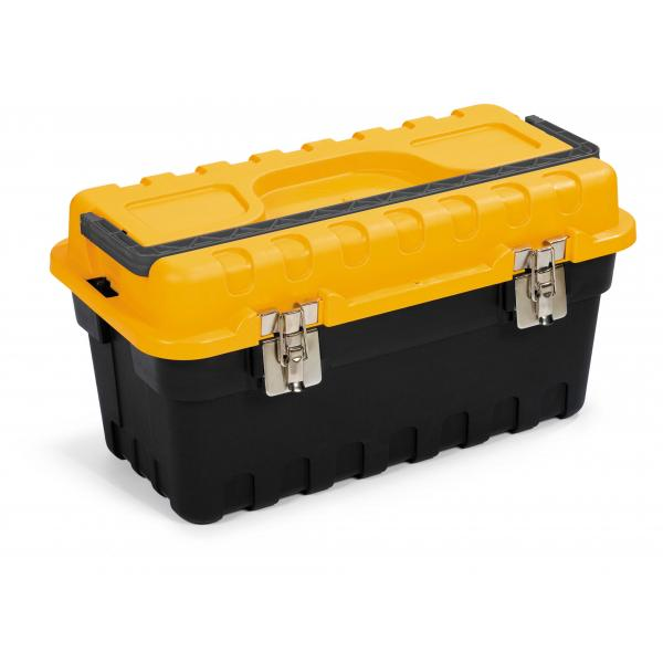 TERRY Tool case with tool tote tray - Black/Yellow - 1