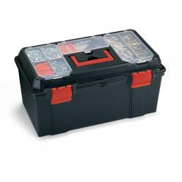 TERRY Tool case with tray amd organizer in the lid- Black/Red - 1