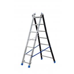 GIERRE 3 section extending ladder with flared base - 1