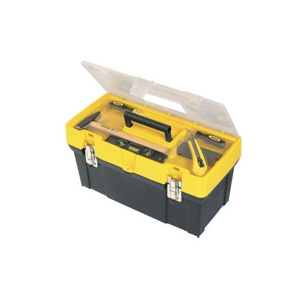 """STANLEY 19"""" Clear Lid Toolbox - 1"""