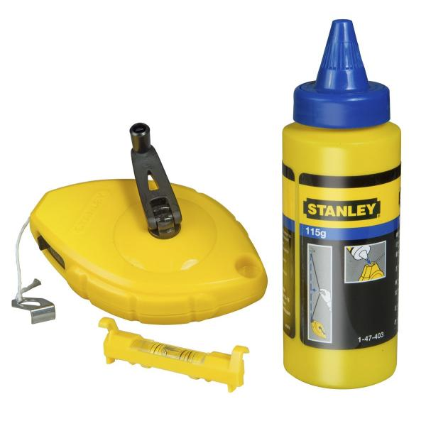 STANLEY Chalk Line With Blue Chalk And Level Set - 1