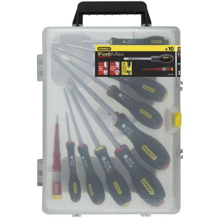 STANLEY 10 pcs. Fatmax® Parallel Flared Pozi Set - 1