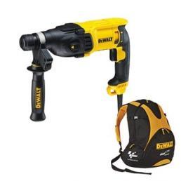 DeWALT SDS-Plus rotary hammer 800W 26mm 2.6J + Free MotoGP Backpack - 1