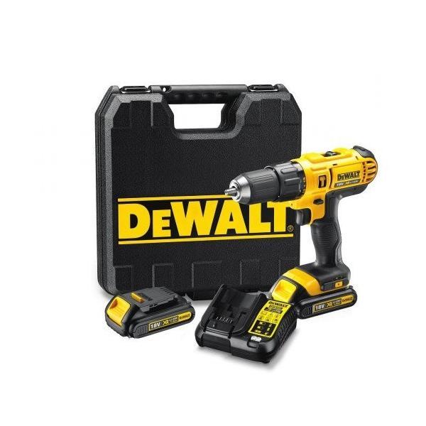 DeWALT 18V-1.3Ah XR Li-Ion 13mm percussion drill with accessory kit - 2