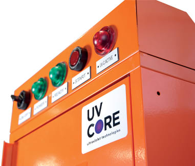 UVì-40 Stand-alone cabinet to sanitize clothing, PPE and other objects in a safe and effective way
