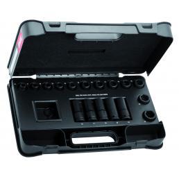 USAG Serie di 21 bussole impact in cassetta di ABS - 1