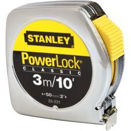 STANLEY Flessometro Powerlock - Cassa in Materiale Sintetico - Poll-mm (3mx12,7cm) - 1