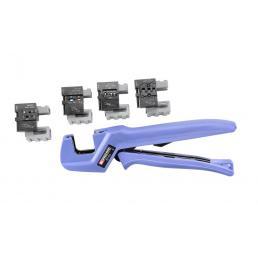 FACOM Pinze a crimpare mobili industriali con 4 stampi intercambiabili - 1