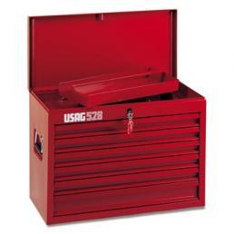 USAG Cassettiera portautensili per officina con assortimento 496 DP1 per movimento terra (133 pz) - 1