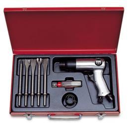 USAG Assortimento con martello pneumatico in cassetta di lamiera (7 pz) - 1