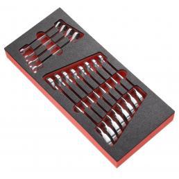 FACOM Modulo in gommapiuma da 8 chiavi combinate a cricchetto articolate in pollici - 1