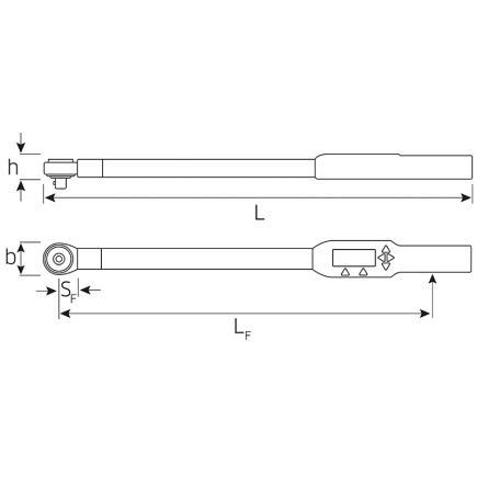 STAHLWILLE Chiave dinamometrica ad angolo di rotazione elettronica Sensotork® a innesto chiave a cricco di commutazione - 1