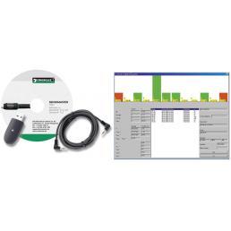 STAHLWILLE Adattatore USB, cavo con connettore jack e software SENSOMASTER per n. 712R, 713R - 1