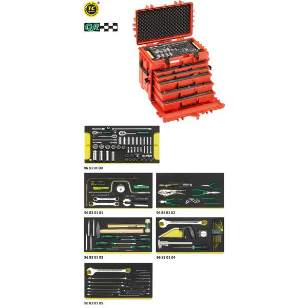 STAHLWILLE 98814900 - 13214 WT/LR - Assortimento Line Maintenance in trolley portautensile n. 13217 (121 Utensili) - 1