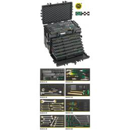 STAHLWILLE Kit AOG per velivoli in trolley portautensili n. 13217 con impronte TCS (163 utensili) - 1