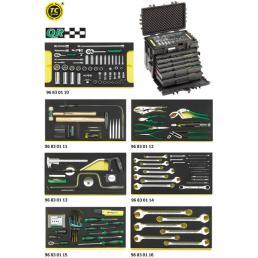 STAHLWILLE Kit AOG per velivoli in trolley portautensili n. 13217 con impronte TCS (154 utensili) - 1