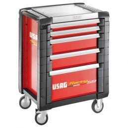 USAG Carrello Racing portautensili per officine - 5 cassetti (vuoto) - 1