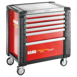 USAG Carrello portautensili per officine con assortimento Auto top 4 cassetti - 1