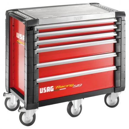 USAG Carrello Racing portautensili per officine - 6 cassetti (vuoto) - 1